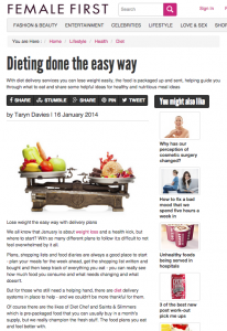 Female First: Dieting Done the Easy Way