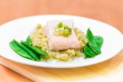 salmon and mangetout and quinoa clean and lean body chef diet plan