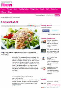 Women's Fitness: Low Carb diet
