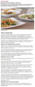 Red Magazine gives Bodychef 9/10